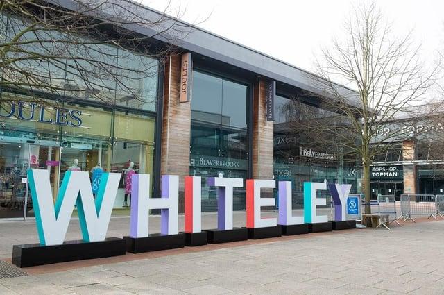 General views around Whiteley shopping centre, Fareham, 1st April 2021