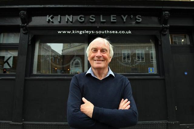 Steve Kingsley outside Kingsley's in Osborne Road, Southsea