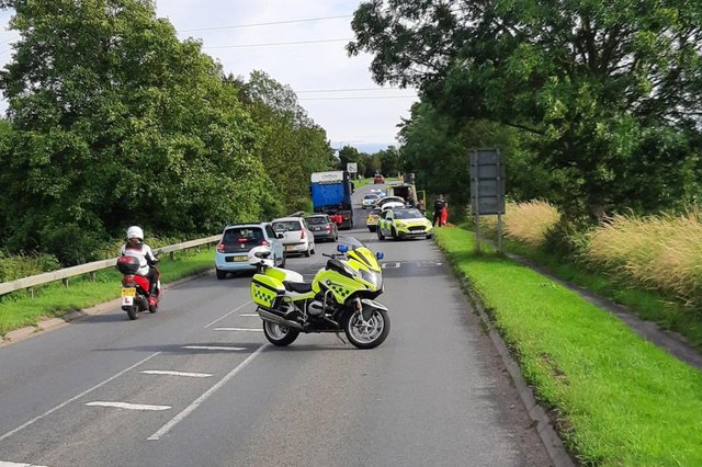 A cyclist in his 60s was seriously injured in a crash on the A32 at Knowle on July 9. Picture: @Hantspolroads