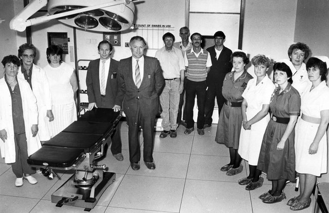 A new surgical unit at QA Hospital in September 1987