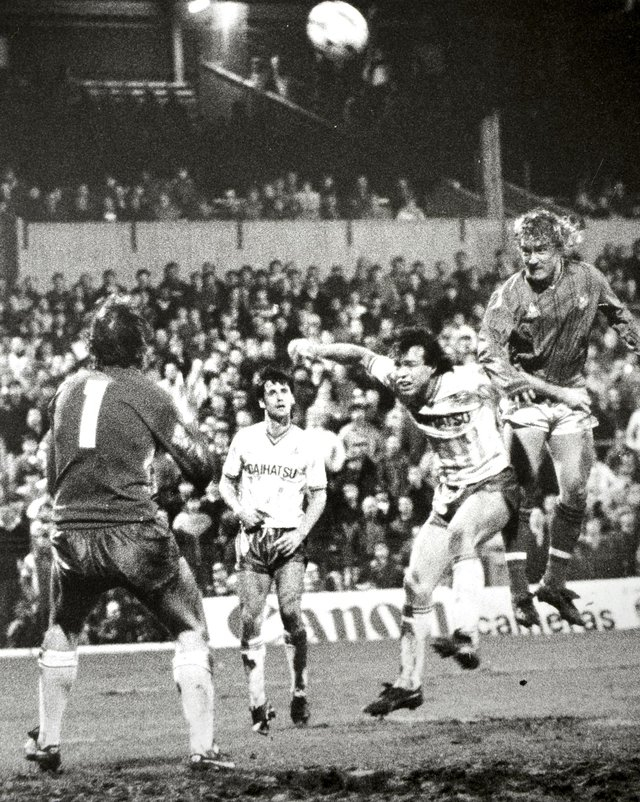 MAGIC MOMENT: Alan Biley scores for Pompey