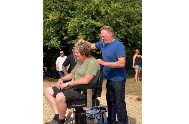 Landlord Mark waited more than eight months for a hair cut. Picture: Mark Newman