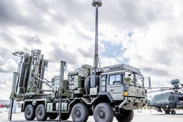 The Sky Sabre missile system pictured in 2018 during its early tests. Photo: Ministry of Defence.