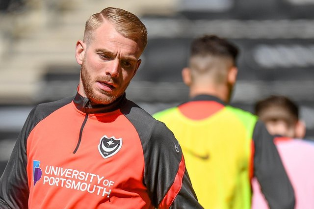 Pompey have failed in their bid to overturn Jack Whatmough's red card against MK Dons, so is absent from tonight's trip to Swindon. Picture: Dennis Goodwin