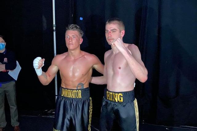 Matt King, right, and Edward Donovan