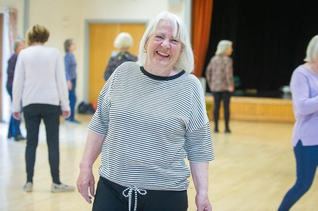 Coordinator Jenny Bishop at Havant U3A's first physical line-dancing session back at Bedhampton Community Centre. Picture: Habibur Rahman