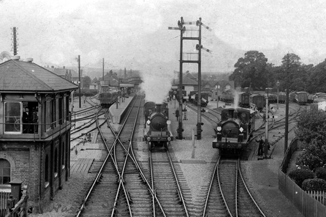 Havant railway station in 1906. Picture: costen.co.uk
