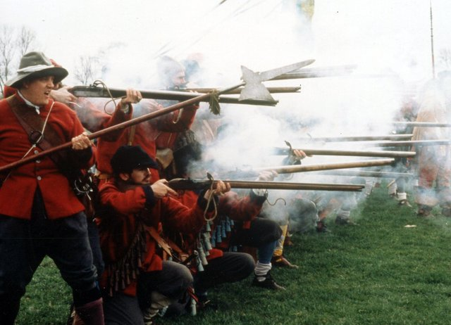 English Civil War event at Portchester Castle October 7-8, 2006. The News PP3903