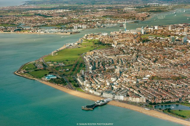 An aerial view looking over Portsmouth, which has been named as one of the areas to become a new freeport Picture: Shaun Roster