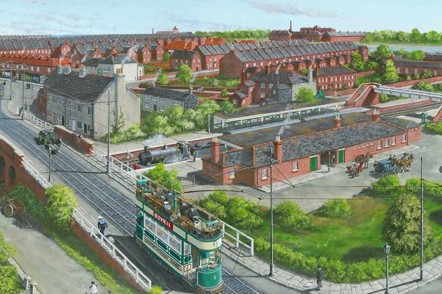 Gosport Road railway station, a painting by Neil Marshall.