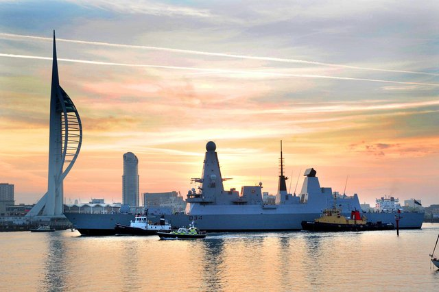 September 22, 1910 and HMS Diamond arrives in Portsmouth for the first time. Picture: Paul Jacobs