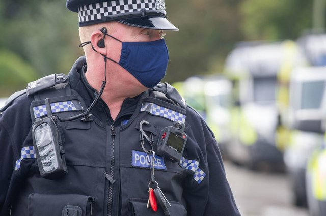Police pictured on a job in Fareham Picture: Habibur Rahman