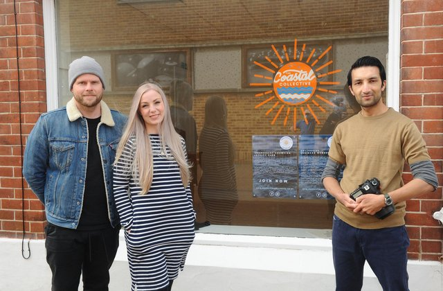 Mandy Rose is the founder of ' The Coastal collective' along with David Rose in Gosport.Pictured is: (l-r) David Rose (39), Mandy Rose (35) and photographer Robbie Khan (37).Picture: Sarah Standing (010421-5909)