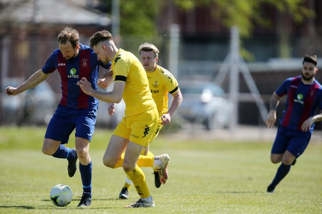 Andrew Todd, left, will be rested for US Portsmouth's opening Hampshire Invitation Cup tie against former club Petersfield tonight. Picture: Chris Moorhouse