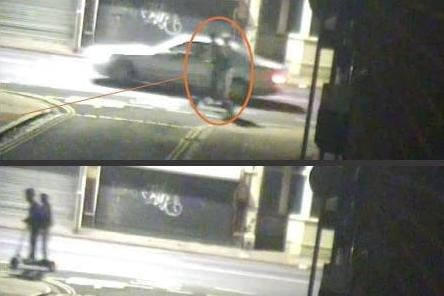 CCTV shown at the trial of Abdelrahman Adam, 18, who raped a 19-year-old woman on September 20 in Turner Road, Buckland, in 2020. Image shows Adam and friend in Kingston Road, passing junction with Buckland Place.  Picture: CPS Wessex