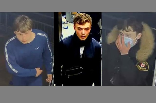 CCTV images of three men have been released after a possibly linked series of robberies and assaults in Portsmouth.