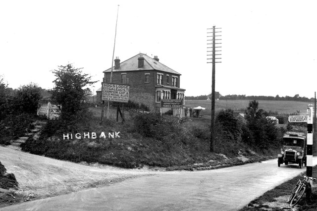 The Hogs' Lodge pub on the A3 near Clanfield, undated. Picture: costen.co.uk