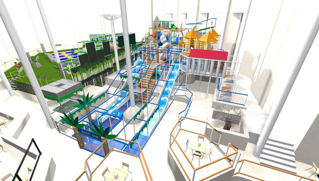 How the new soft play area in the Pyramids could look. Picture: House of Play.