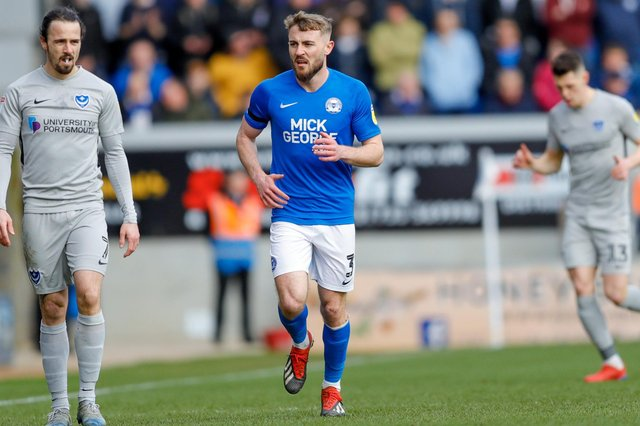 Pompey had been eyeing their former left-back Dan Butler, who is currently with Peterborough. Picture: Simon Davies/ProSportsImages