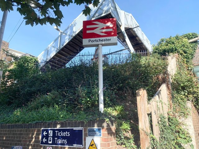 Portchester train station on September 28, 2020. Picture: Sarah Standing