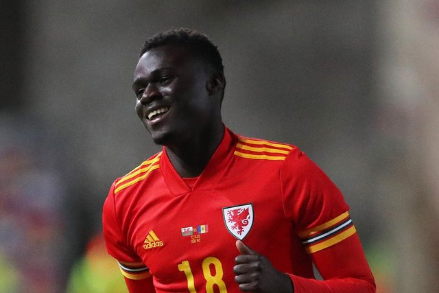 Marine striker Mo Touray pictured playing for Wales under-21s earlier this month. Photo by Alex Livesey/Getty Images)
