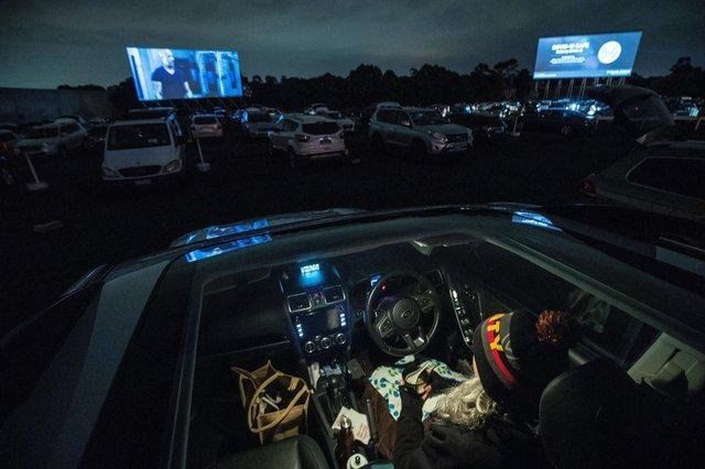 A drive-in cinema. Picture: Darrian Traynor/Getty Images