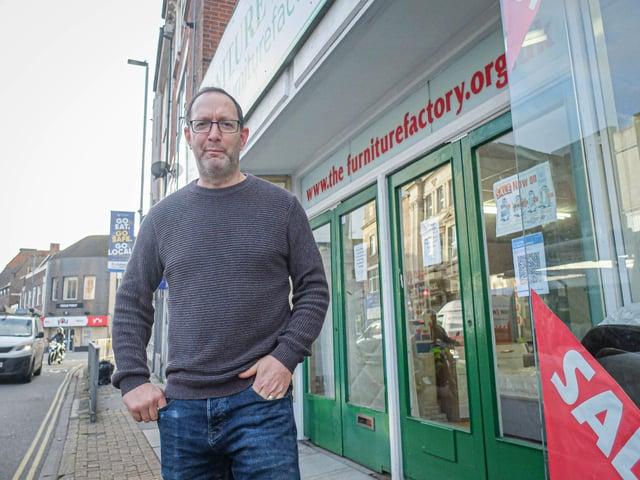 Lee Cross of Furniture Factory, North End, Portsmouth on 12 November 2020.  Picture: Habibur Rahman