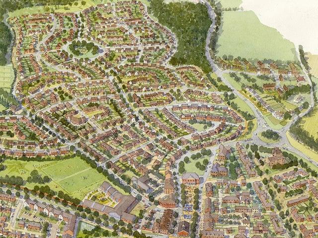 A aerial interpretation of Welborne
