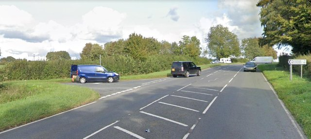 The B3035 at the junction with Corhampton Lane. Picture: Google Maps