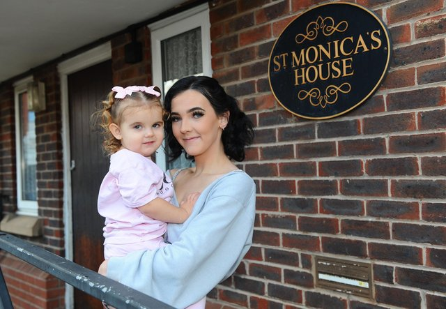 Portsmouth Churches Housing Association will benefit from the Comfort and Joy campaign this year.Pictured is: Ellie Jay Jaundrill (19) with her daughter Ivy (2).Picture: Sarah Standing (071220-9769)