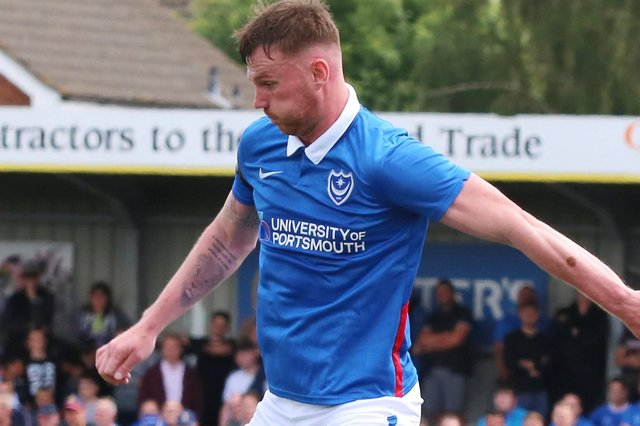 Ryan Tunnicliffe impressed for Pompey against the Hawks. Picuture Paul Collins