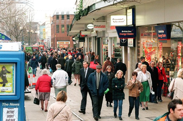Commercial Road in 1998.