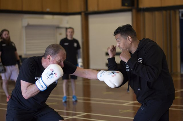 Q Shillingford MBE giving one to one instruction. Picture: Zoe Box