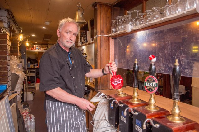 The Duke of Buckingham pub landlord Andrew Harvey has helped to make and deliver 65,000 meals to vulnerable and elderly residents.  Picture: Habibur Rahman