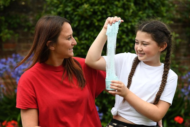 Cheryl Dodd, founder of BizKidz, with daughter Issy, who set up her own slime business last year.  Picture: Paul Jacobs/pictureexclusive.com