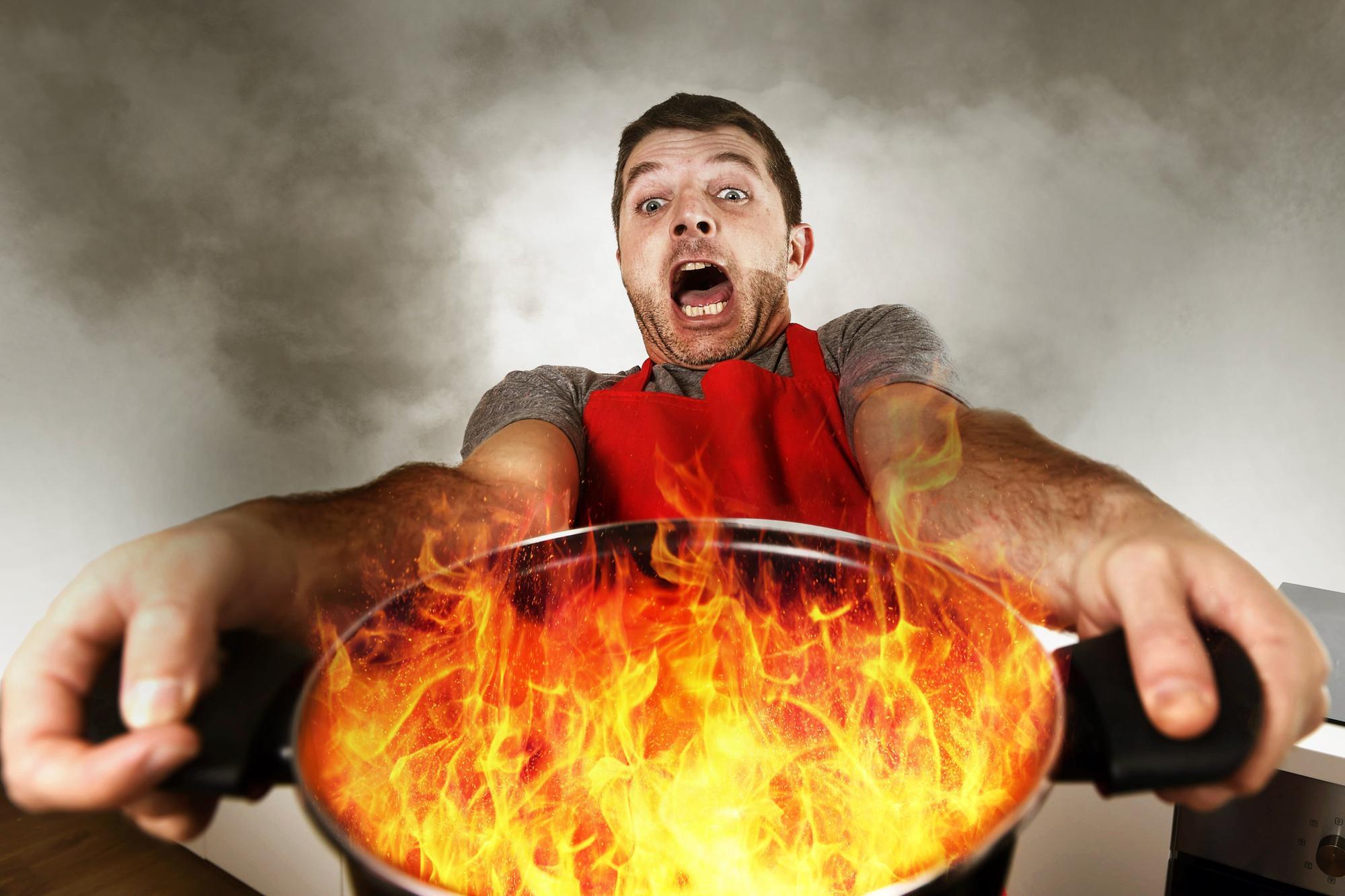 Starting a kitchen fire wasn't my finest moment | Alun Newman