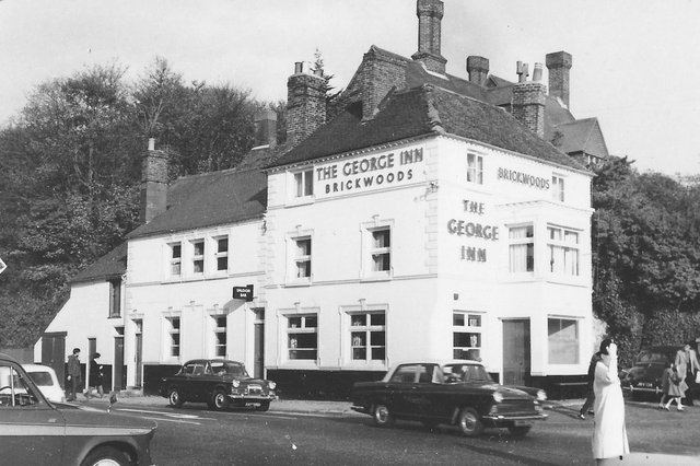The junction of London Road and Portsdown Hill Road in the early 1960s. Picture: Barry Cox collection