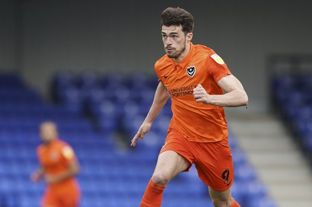John Marquis was on the mark for Pompey