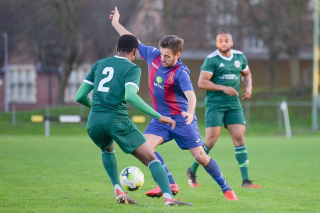 US Portsmouth beat Brockenhurst in the Vase second round in December - one of three Wessex Premier scalps they have taken in the competition in 2020/21 so far. Picture: Martyn White.