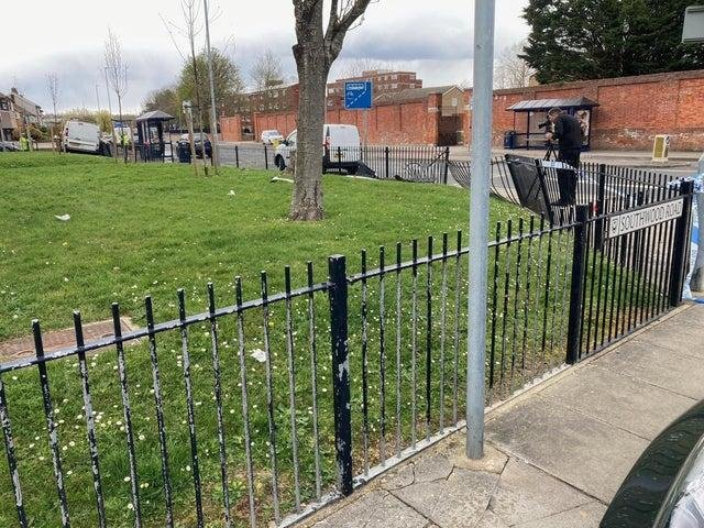 The scene viewed from the junction at Southwood Road. Picture: Jeremy Brown