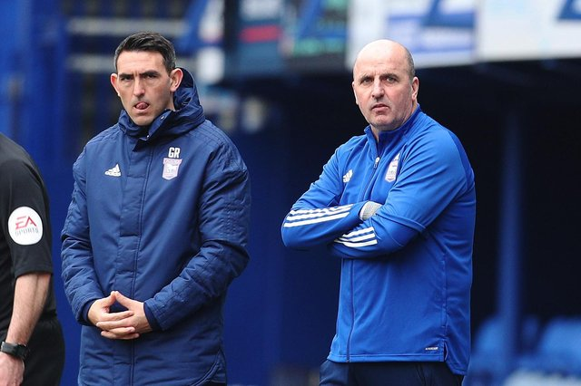 Former Pompey boss Paul Cook, right, with Gary Roberts on their return to Fratton Park