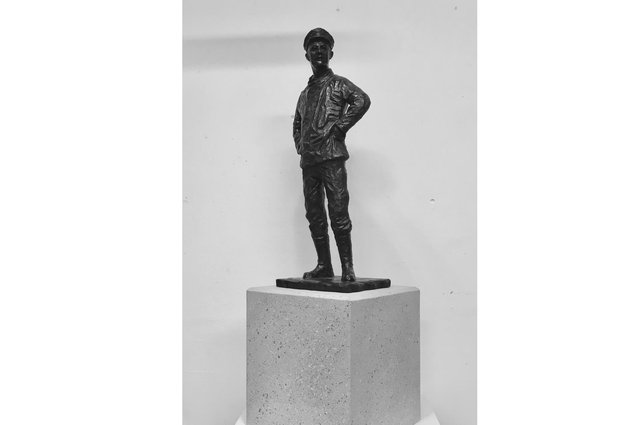 A smaller maquettes version of the Sir Alec Rose statue design. Photo: Vincent Gray