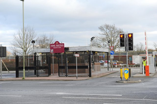 The west gate at HMS Sultan in Gosport.  Picture: Ian Hargreaves (150176-3)