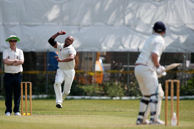 Kerala skipper Dawn Ambi took two wickets and scored an unbeaten half-century in his side's Hampshire League victory over Southampton Community. Picture: Chris Moorhouse