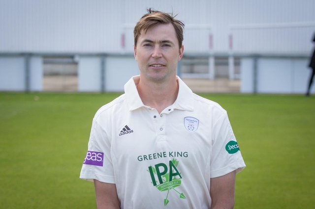 James Fuller hit a century in Hampshire 2nds' victory over a combined Kent/Sussex 2nd XI at Canterbury. Picture: Habibur Rahman