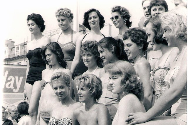Southsea girls who entered the Marilyn Monroe competition alongside South Parade Pier in a summer of 1960.