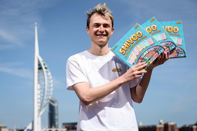 Harry Selway is the inventor of a new board game - Shivoo - which he has just launched. He gave up his job as a project manager at BT to do so, and is pictured in GosportPicture: Chris Moorhouse (jpns 070521-25)
