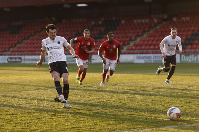 John Marquis misses the spot-kick at Crewe (Photo by Daniel Chesterton/phcimages.com)