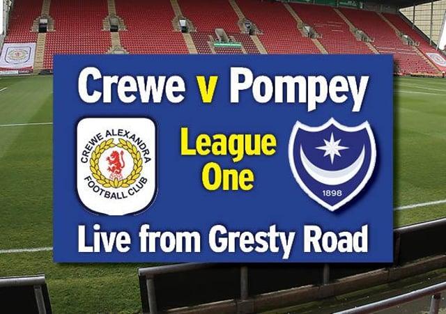 Pompey take on Crewe tonight at Gresty Road.