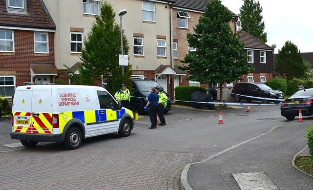 East Shore Way, Milton incident. Police on scene. Picture credit Stuart Vaizey